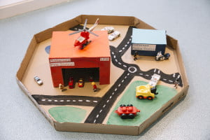 Model of the fire station