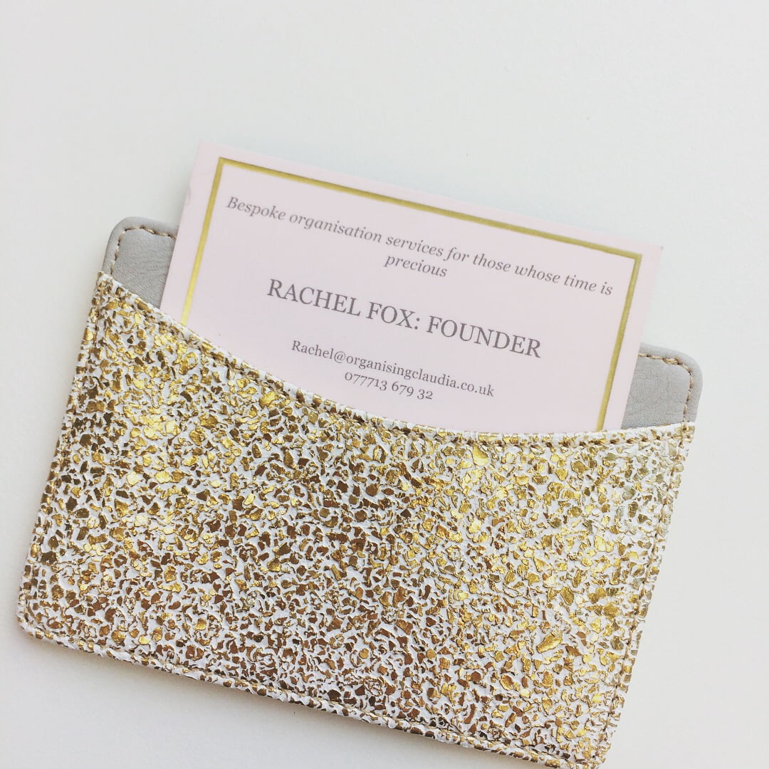Business card in wallet